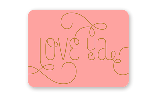 Haven Paperie Love Ya Swirls Greeting Card