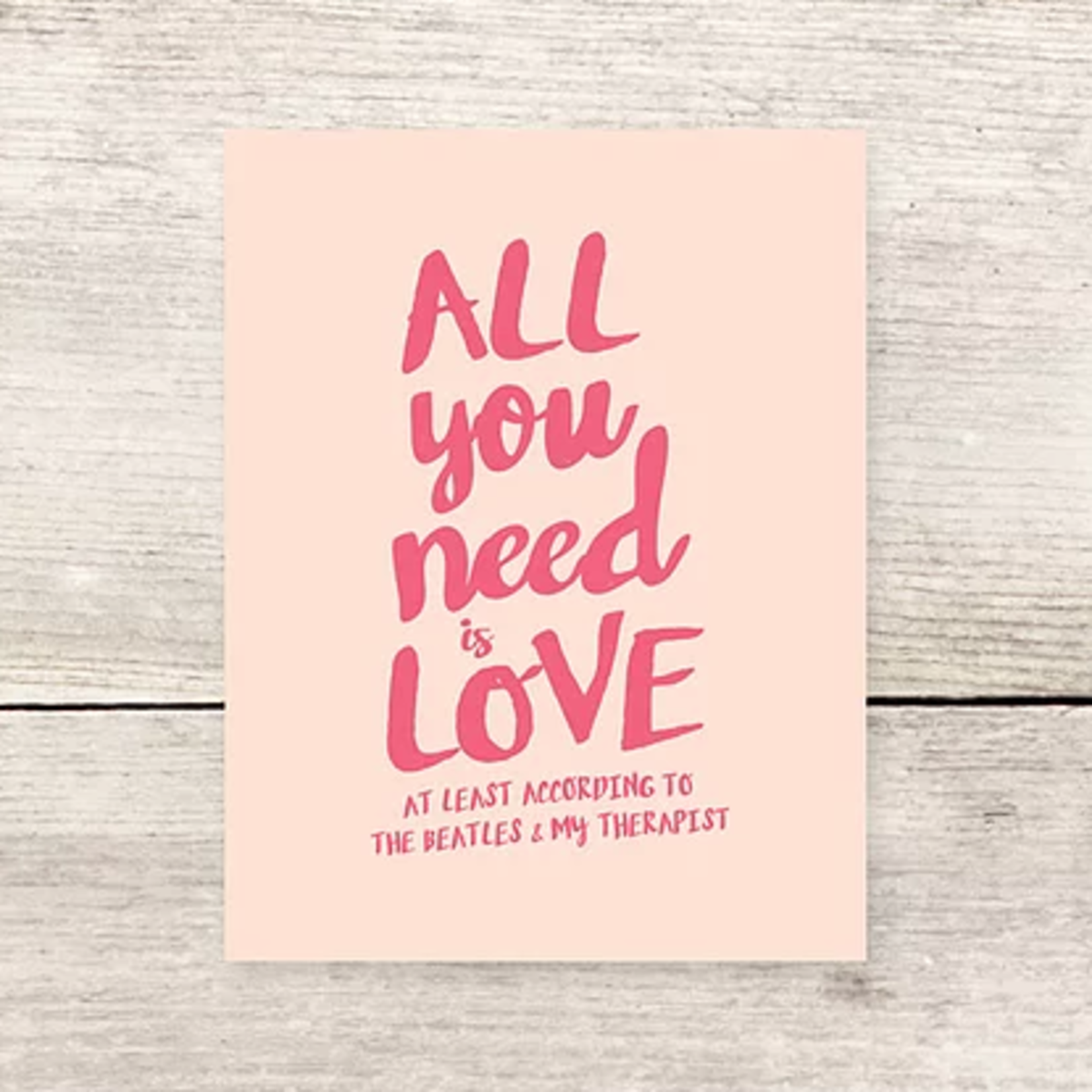 Haven Paperie Love Beatles Therapist Greeting Card