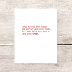 Haven Paperie Love With Candy Greeting Card