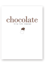 Haven Paperie Chocolate Love Language Greeting Card