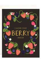 Bloomwolf Studio Berry Much Love Wreath Greeting Card