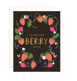 Bloomwolf Studio Berry Much Love Wreath Greeting Card
