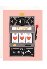 Bloomwolf Studio Hit The Love Jackpot Greeting Card