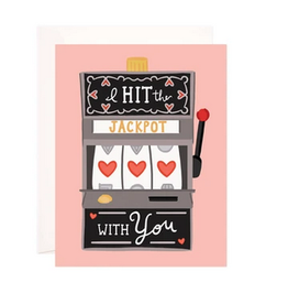Bloomwolf Studio Hit The Love Jackpot Greeting Card