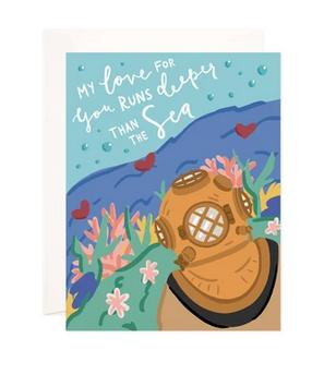 Bloomwolf Studio Deep Sea Love Greeting Card