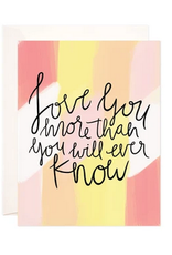 Bloomwolf Studio Painted Love You More Greeting Card