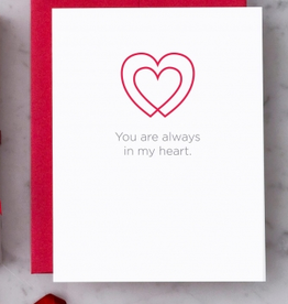 Design With Heart Always in My Heart Greeting Card