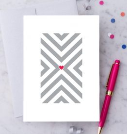 Design With Heart Geometric Heart Greeting Card