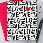 Design With Heart Handwritten Love Greeting Card
