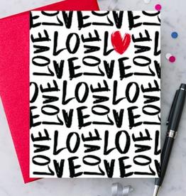 Design With Heart Handwritten Love Greeting Card