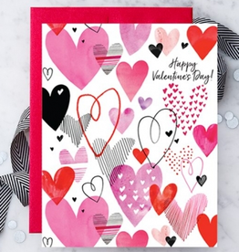 Design With Heart Valentine's Day Multi-Hearts Greeting Card