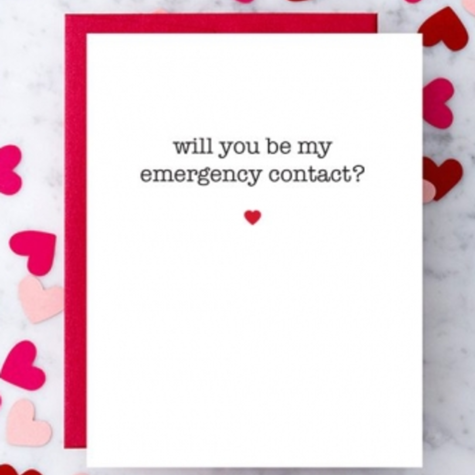 Design With Heart Be My Emergency Contact? Greeting Card