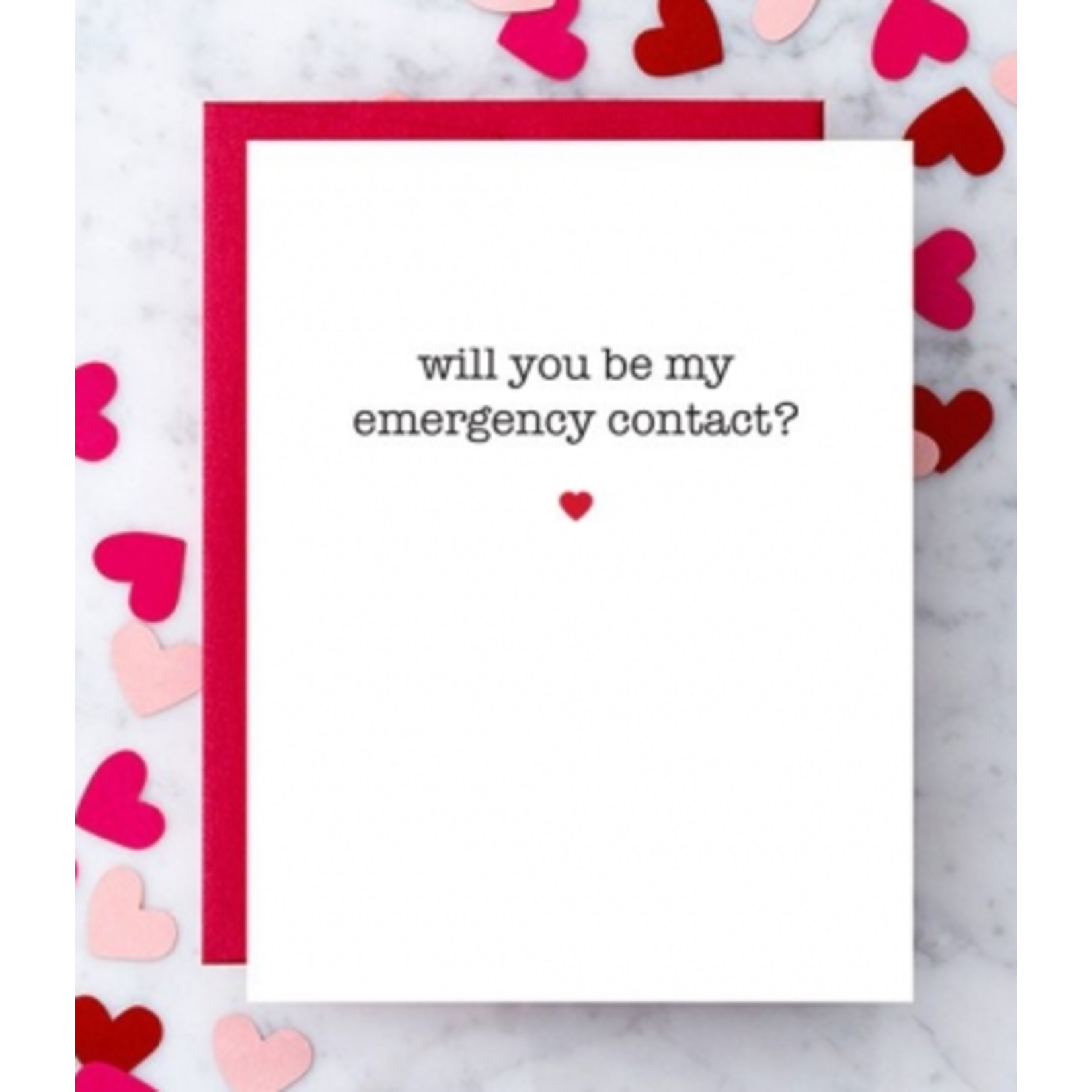 Design With Heart (QO) Be My Emergency Contact? Greeting Card
