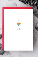 Design With Heart I Love Us Rainbow Heart Greeting Card