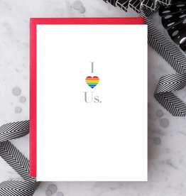 Design With Heart I Love Us Rainbow Heart Greeting Card