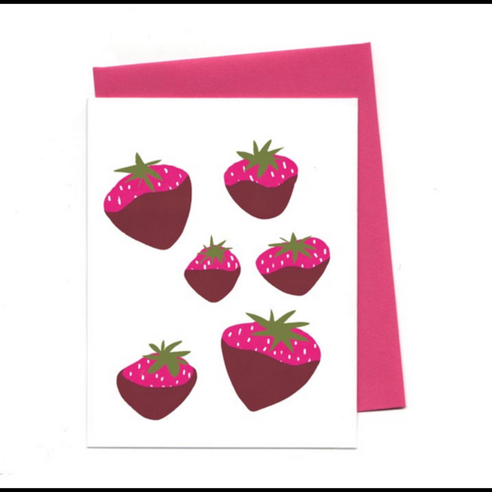 An Open Sketchbook Chocolate Strawberries Greeting Card