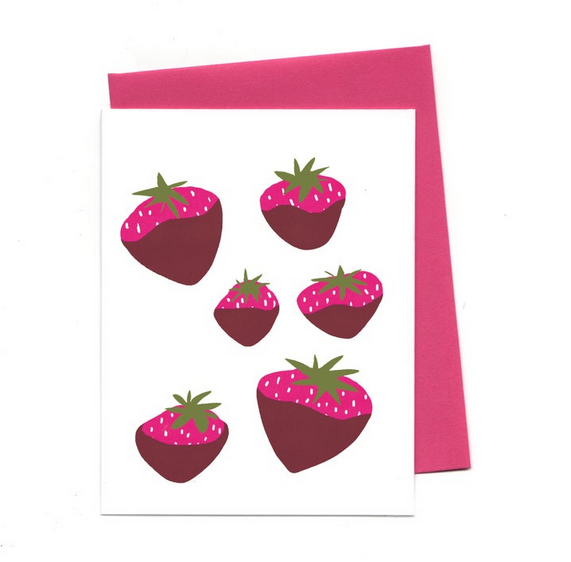 An Open Sketchbook Chocolate Strawberries Greeting Card