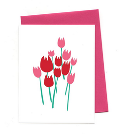 An Open Sketchbook Love Tulips Greeting Card