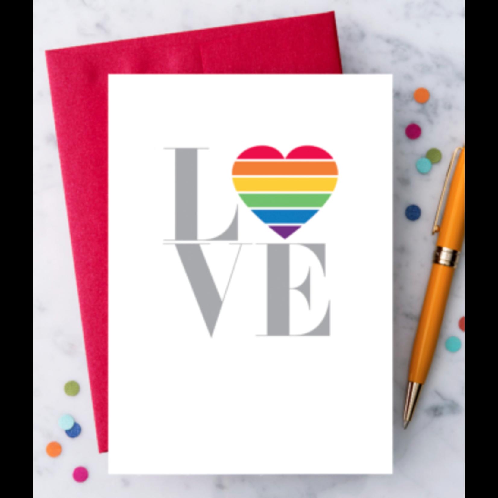 Design With Heart Rainbow Love Greeting Card
