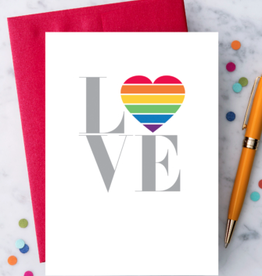 Design With Heart Rainbow Love Greeting Card
