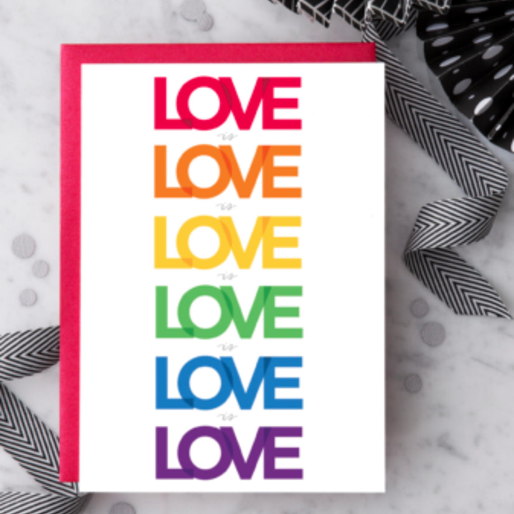 Design With Heart Love Is Love Is Love Greeting Card
