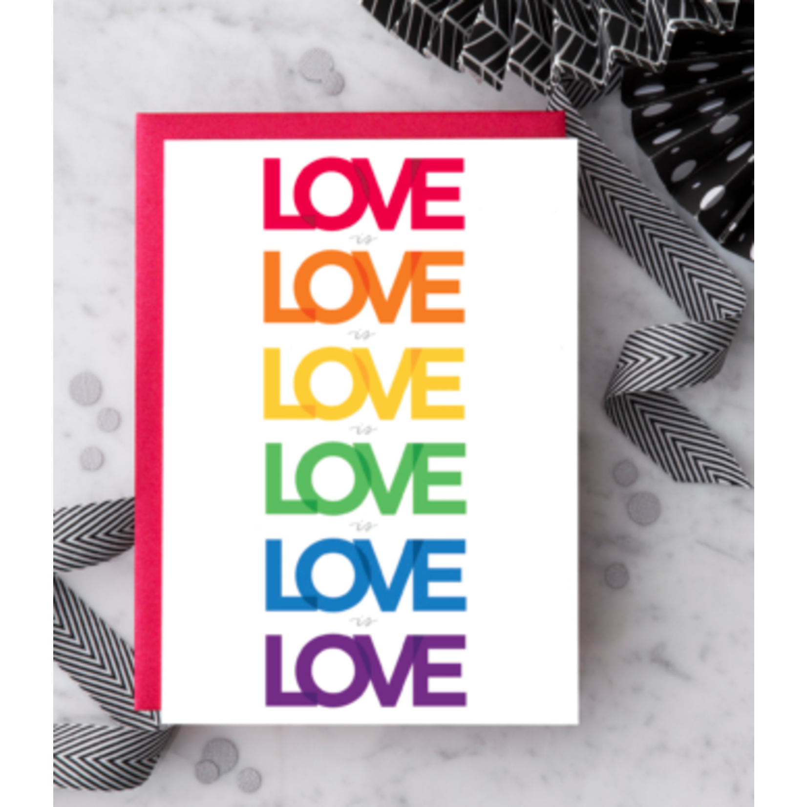 Design With Heart (QO) Love Is Love Is Love Greeting Card