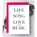 Design With Heart (QO) Life Is Song Love Is Music Greeting Card