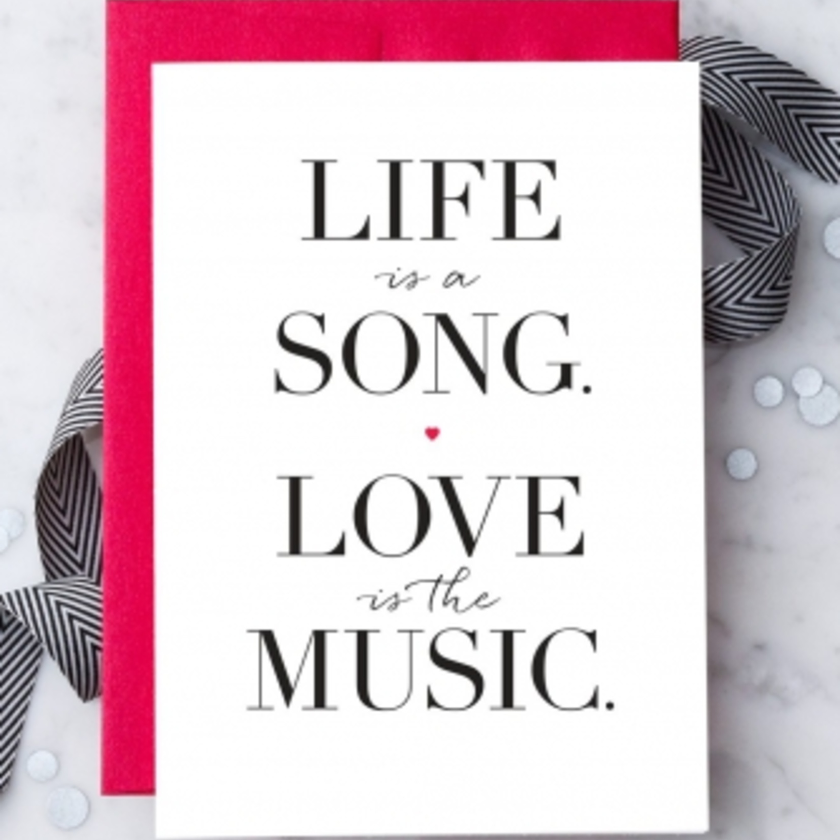 Design With Heart Life Is Song Love Is Music Greeting Card