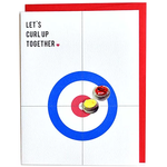 Cracked Designs Curling Love Greeting Card