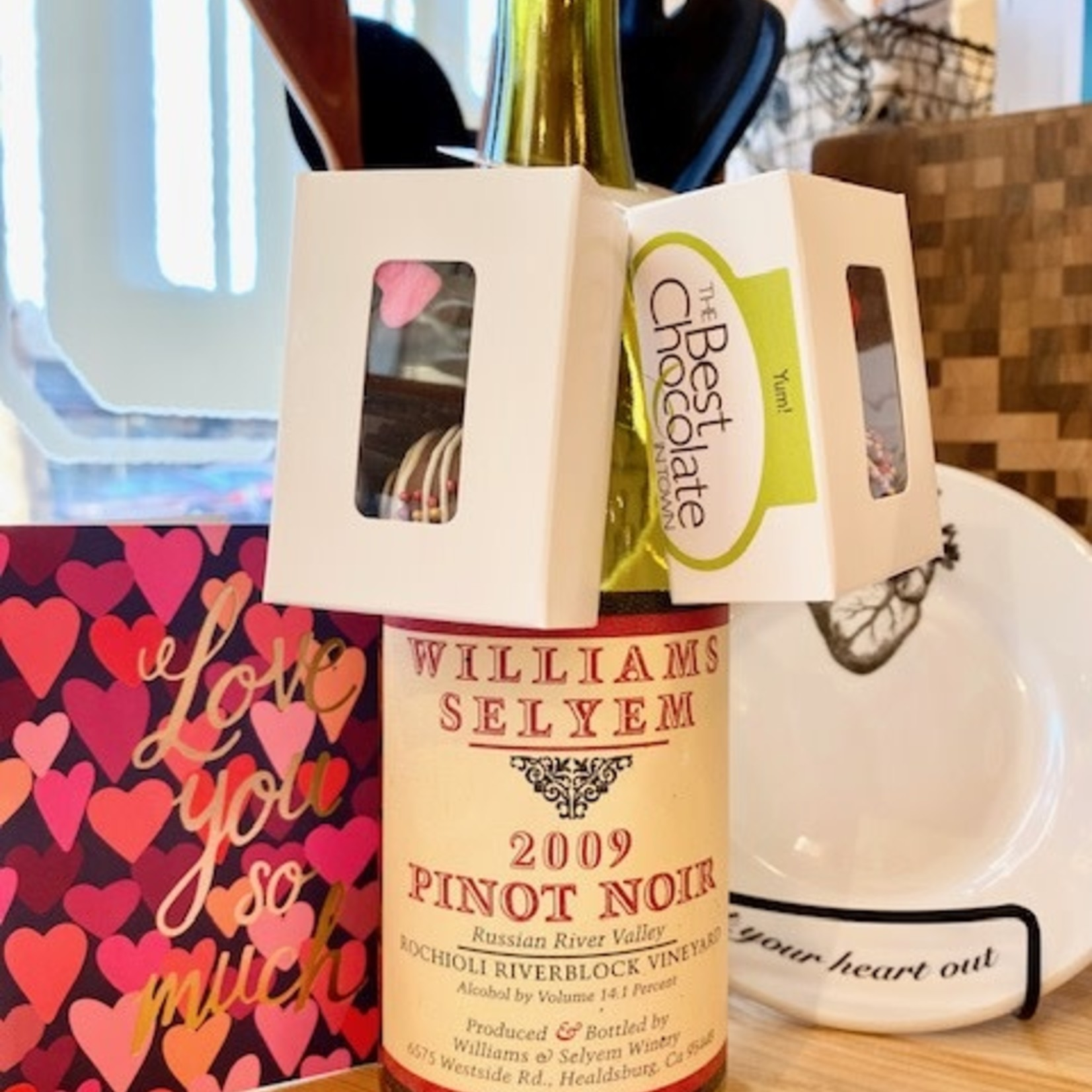The Best Chocolate in Town (POC) 2pc. Truffle Wine-Hook Box