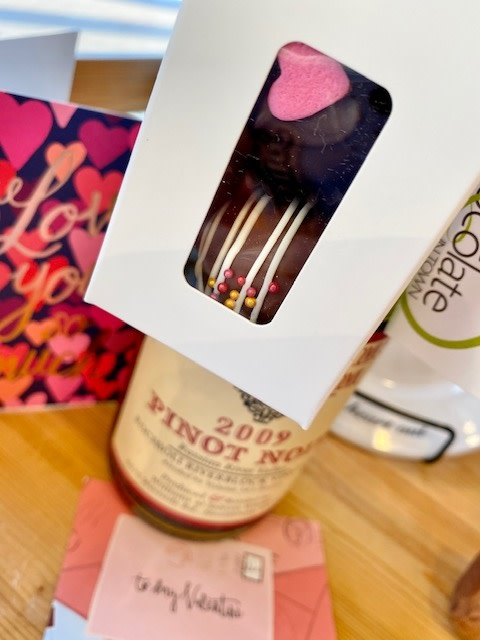 The Best Chocolate in Town Valentine 2pc. Truffle Wine Favor Box