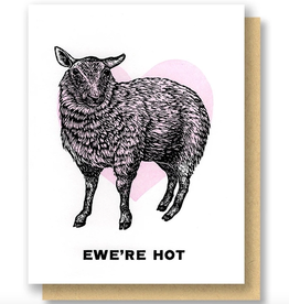Questionable Press Ewe're Hot Sheep Greeting Card
