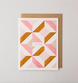 Igloo Letterpress XOXO Pink Deco Greeting Card