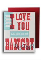 Igloo Letterpress Hangry Greeting Card