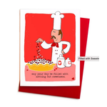 An Open Sketchbook Filled With Sweetness Chef Greeting Card