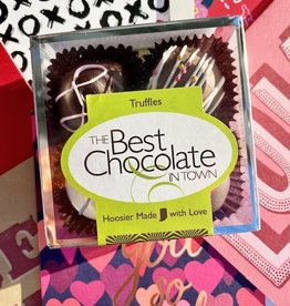 The Best Chocolate in Town Valentine 4pc. Truffle Box