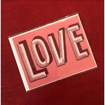 Fiber and Gloss LOVE Dot Lettering Pink Greeting Card