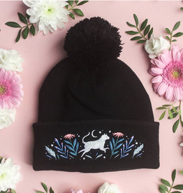 Papio Press Embroidered Animal Beanie Hat