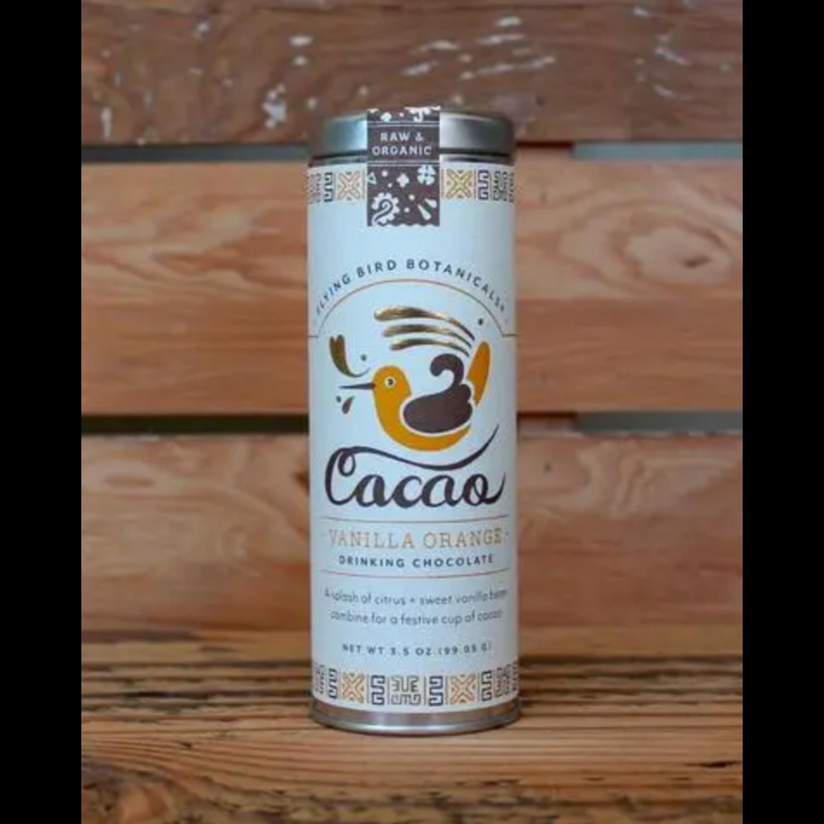 Flying Bird Botanicals Vanilla Orange Cacao Drinking Chocolate Tin