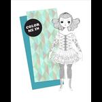 Of Unusual Kind Color Me: Amelia Paper Doll Card + Envelope