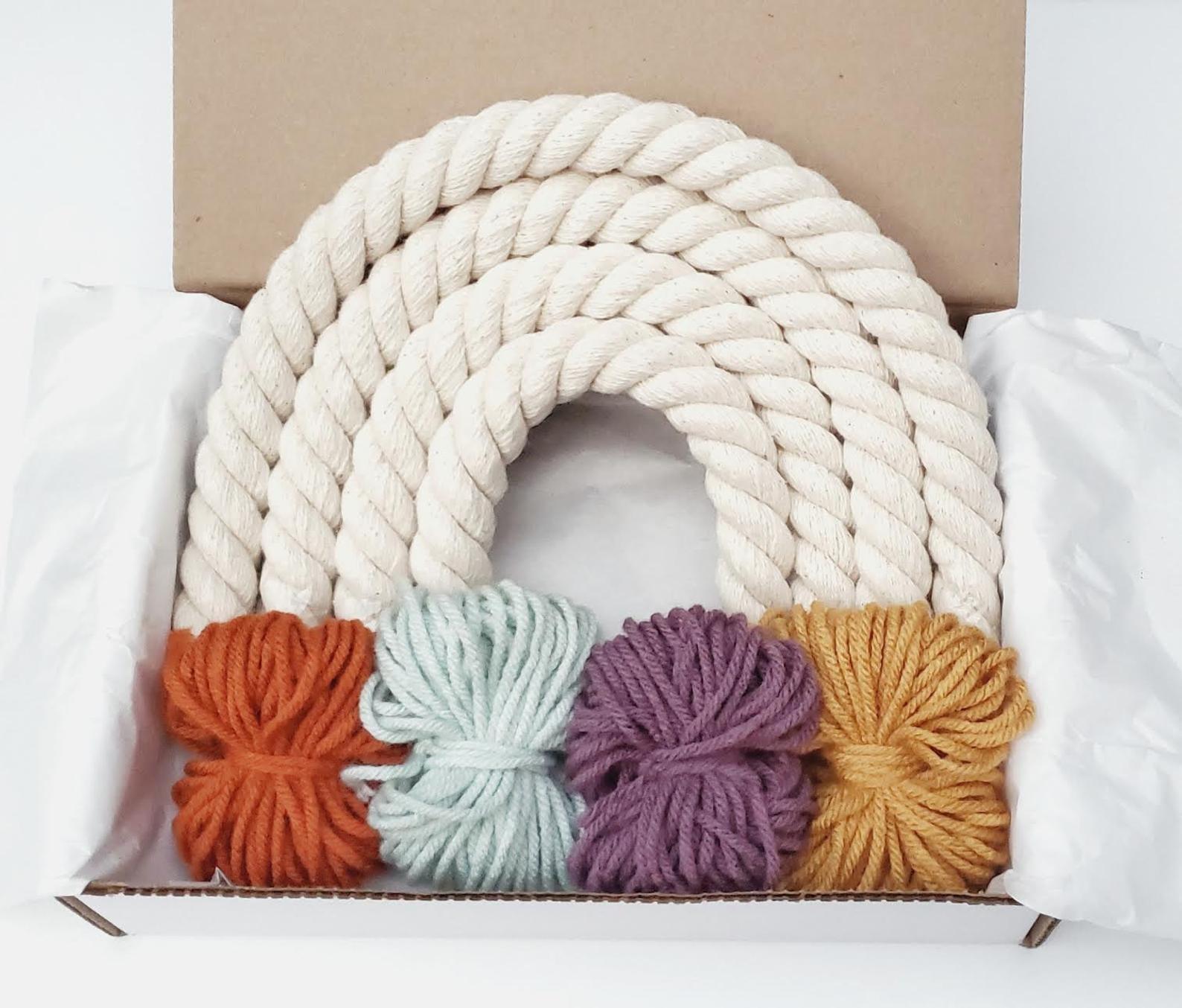 Rainbow Macrame DIY Kit