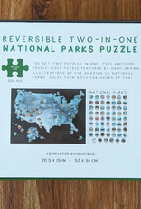 Jetsetter Maps / Suade Reversible Two-In-One US National Parks 500pc. Puzzle