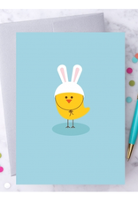 Design With Heart Easter Chick-Bunny Greeting Card