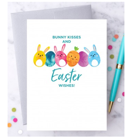 Design With Heart Bunny Kisses + Easter Wishes Eggs Greeting Card