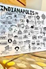 Fiber and Gloss Indy: Landmarks + Places Art Print