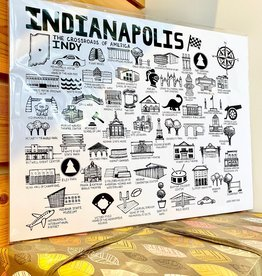 Fiber and Gloss Indy: Landmarks + Places Art Print