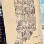 Townsville B&W: Indianapolis Landmarks 16x20 Art Print
