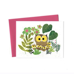 An Open Sketchbook Mother Owl Greeting Card