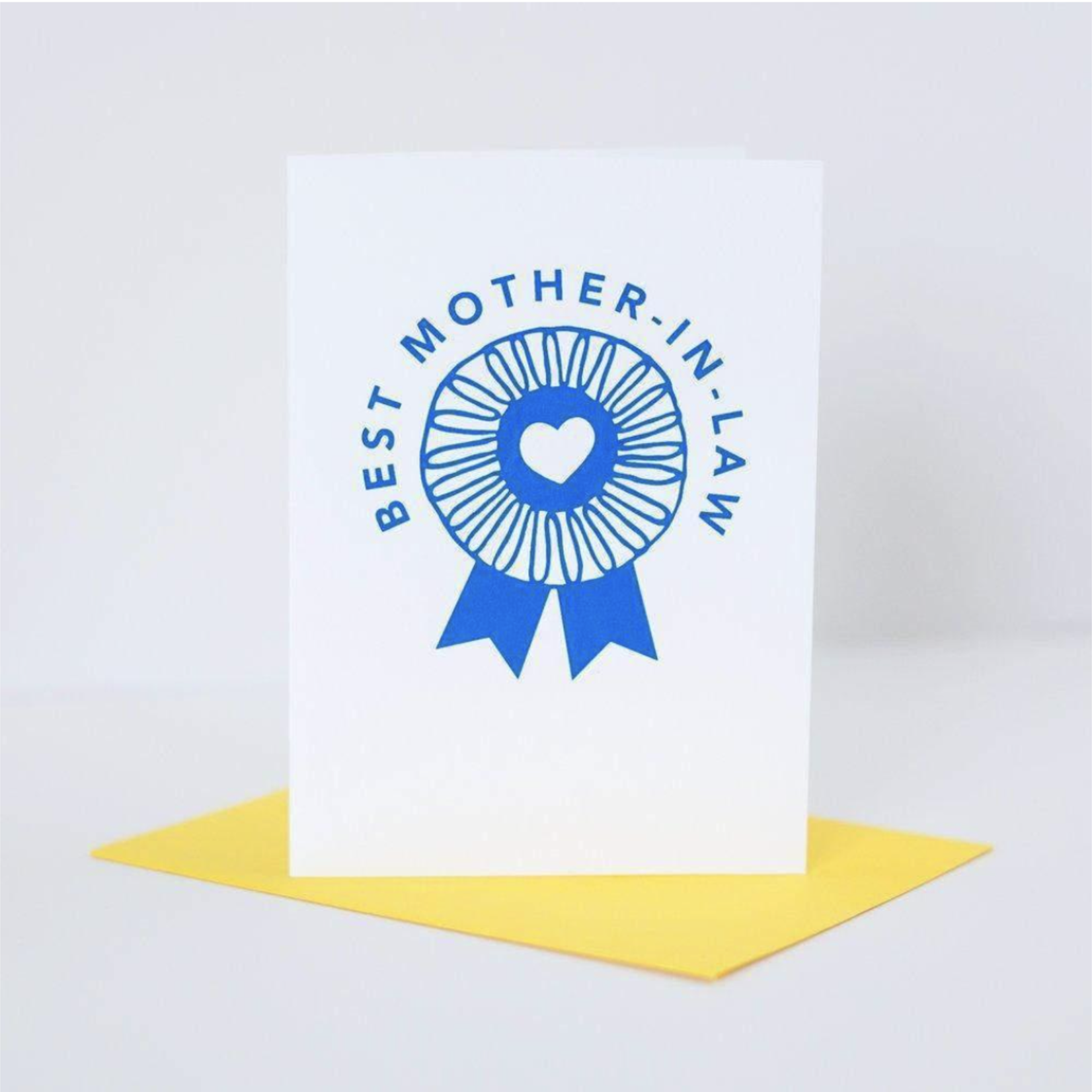Exit343Design Best Mother-In-Law Blue Ribbon Greeting Card