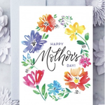 Design With Heart Mother's Day Watercolor Wildflowers Greeting Card